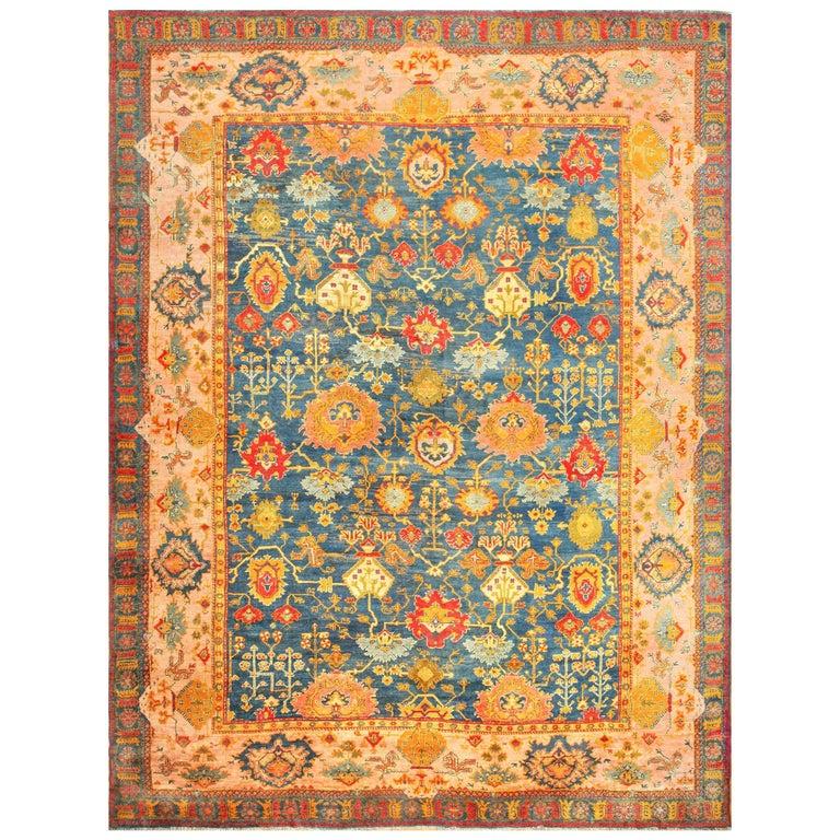 Turkish Oushak rug, ca. 1890