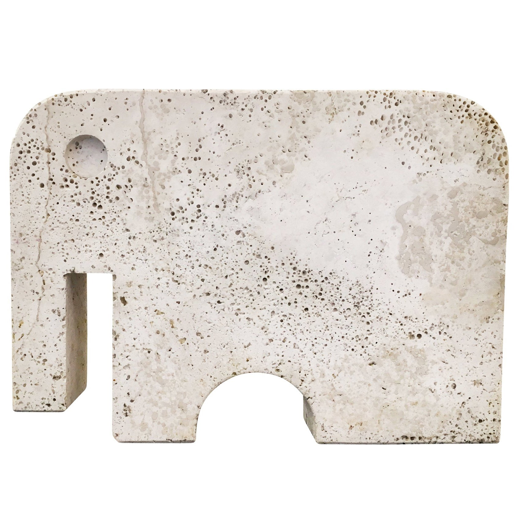 Travertine Elephant by Angelo Mangiarotti For Sale at 1stdibs
