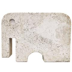 Travertine Elephant by Angelo Mangiarotti