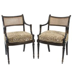 Regency Style Caned Armchairs
