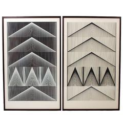 """One Set of Rare Screen Prints, """"Cone Line 1"""" by Verner Panton"""