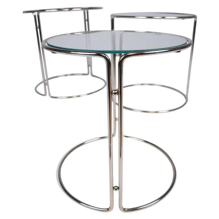Mid-Century Modern Chrome Nesting Tables