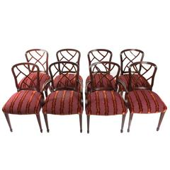 Set of Eight English Style Dining Chairs
