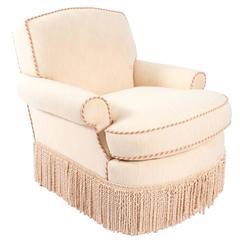 Custom English Club Chair
