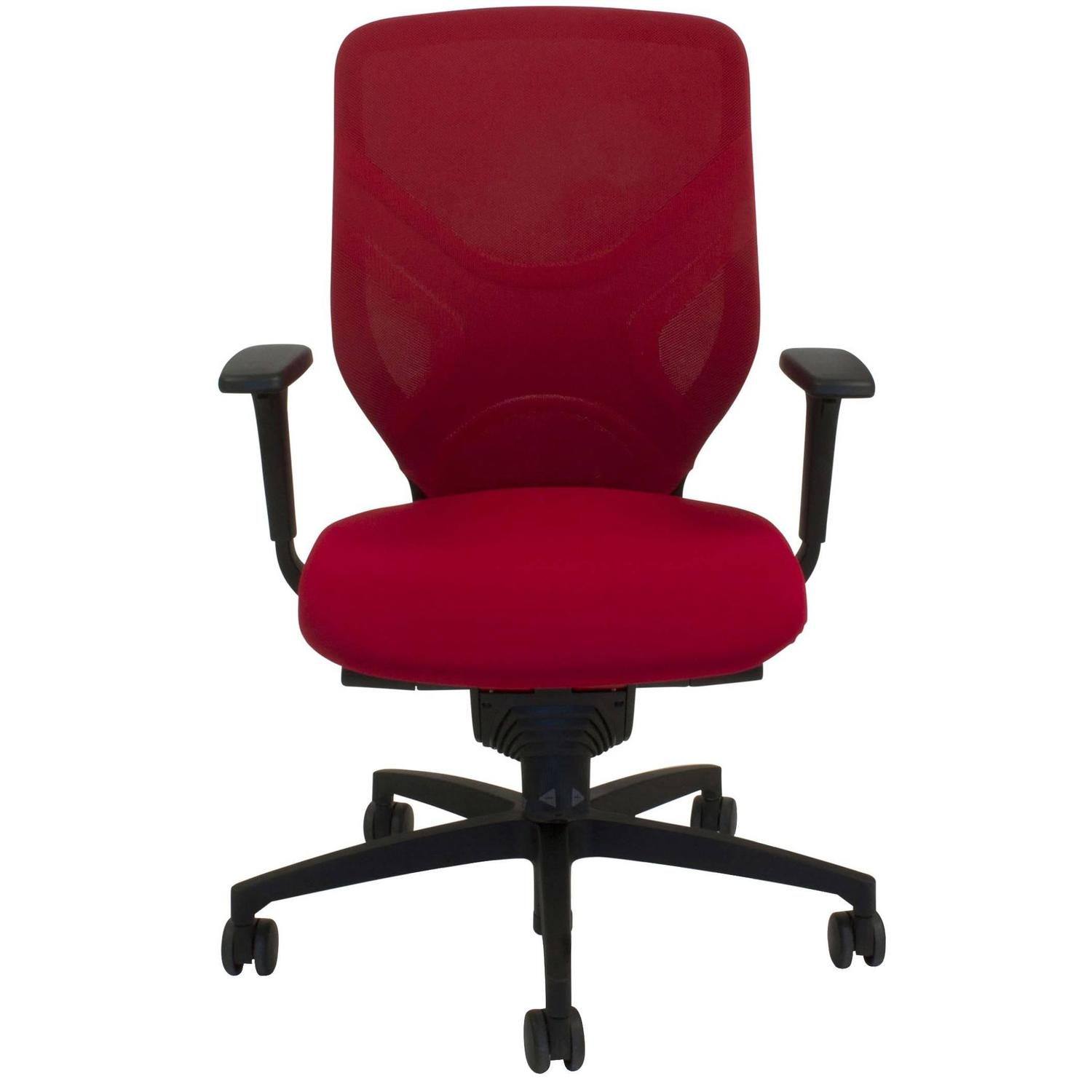 Red Fabric in 184 7 Swivel fice Task Chair by Wiege for Wilkhahn