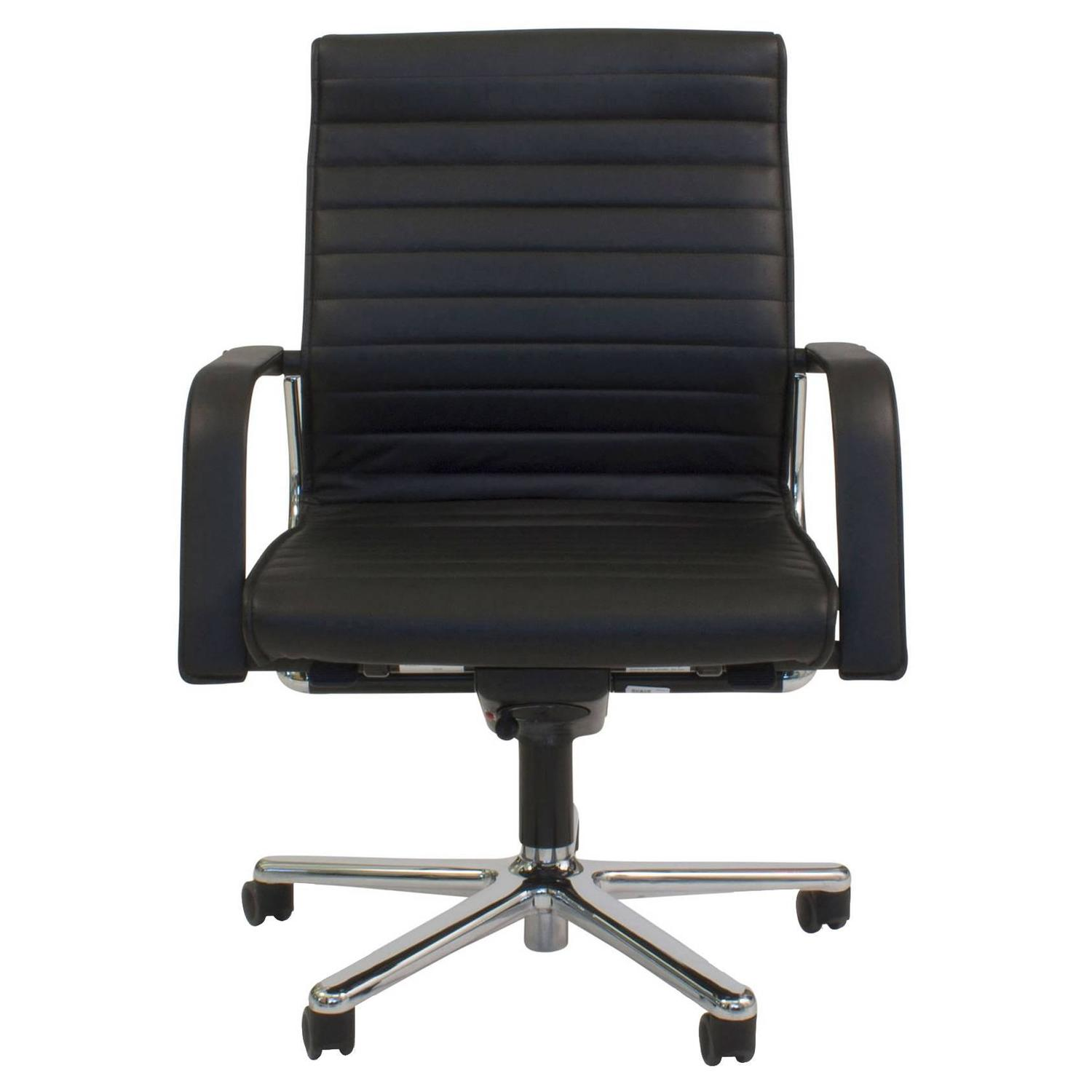 Black Leather FS 220 82 fice Swivel Task Chair by Franck and