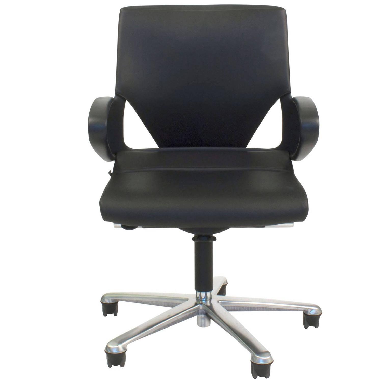 Black Leather Modus 283 7 fice Swivel Task Chair for Wilkhahn