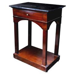 19th Century Mahogany Italian Biedermeier Work Table with Marble Top
