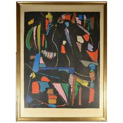André Lanskoy Signed Lithograph, Abstract Composition