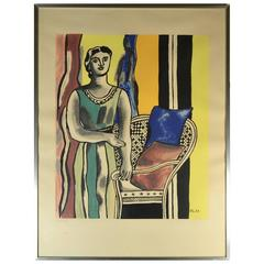 Fernand Léger Lithograph, Woman with an Armchair, 1953