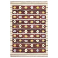 Vintage Swedish Kilim by Marianne Richter for Marta Maas