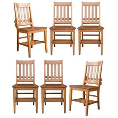Set of Six Heywood-Wakefield Library Chairs, circa 1930s