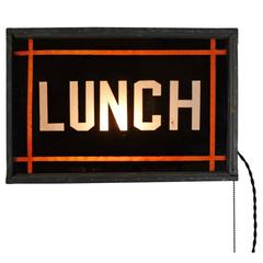 Double Sided Illuminated Lunch Sign, circa 1940
