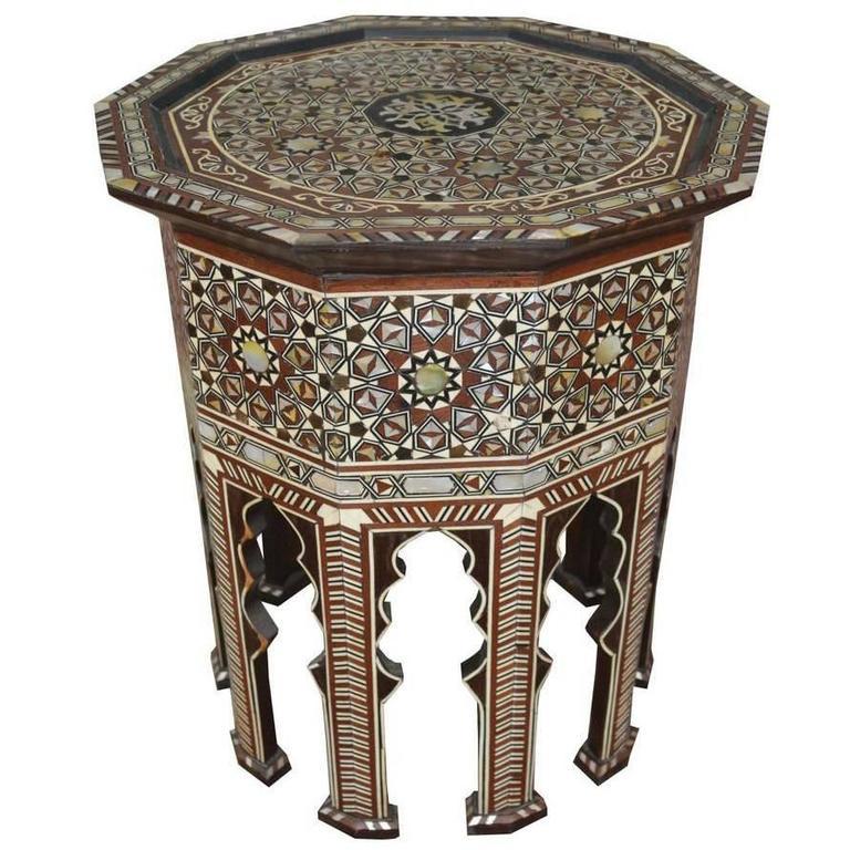 Moorish Inlay Side Table
