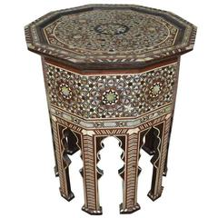 Moorish Inlay Side Table