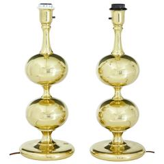 Pair of 1950s brass table lamps by Borens Aktiebolag