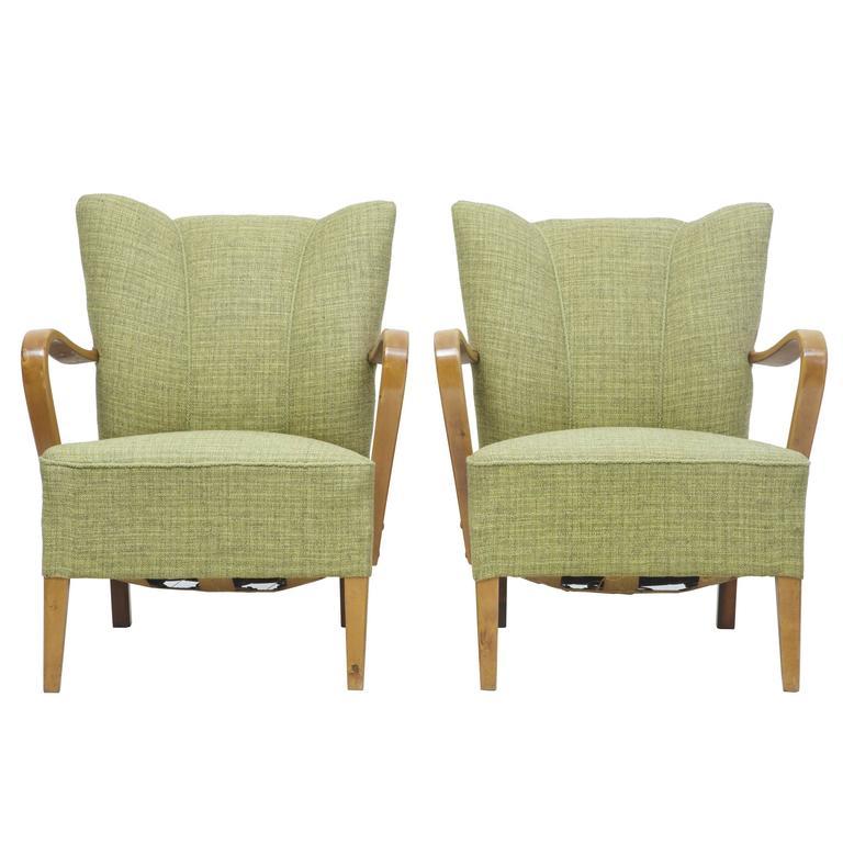 Pair of 1960s Scandinavian Modern Birch Armchairs
