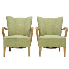 Pair of 1960s Scandinavian Modern Birch Armchairs