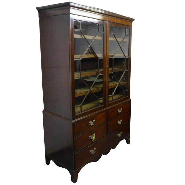 18th Century Mahogany Linen Press