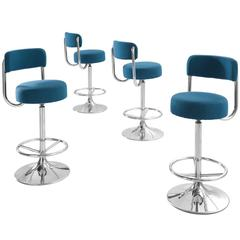 Johanson Cobra Set of Four Bar Stools Newly Upholstered