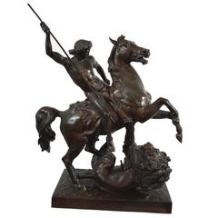 19th Century Patinated Metal Sculpture, French, circa 1890