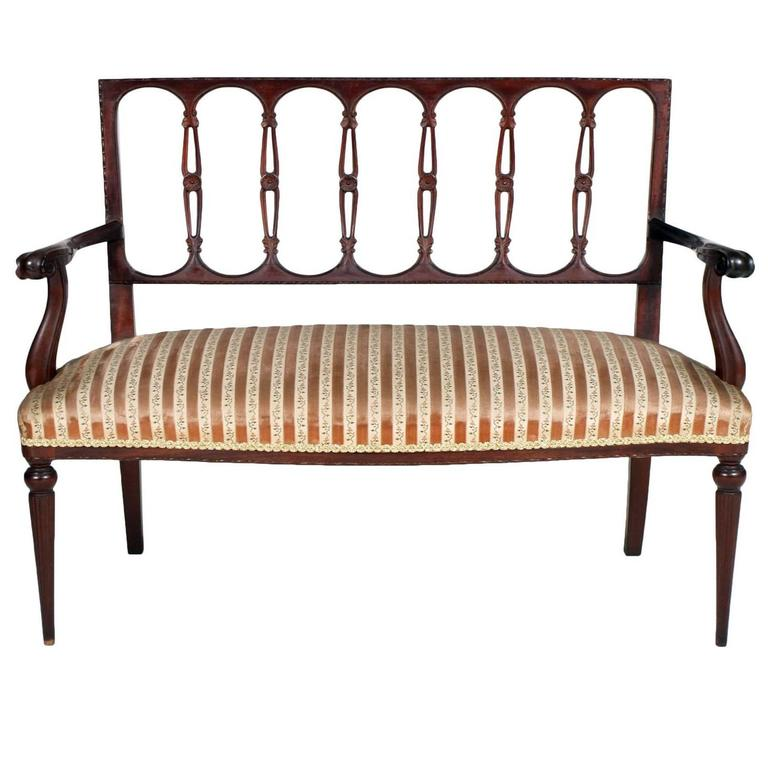 End 19th Century Eclectic Style Sofa Loveseat Belle Epoque Hand-Carved Walnut