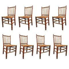 Original Old Hickory Bentwood Chair, Set of Eight