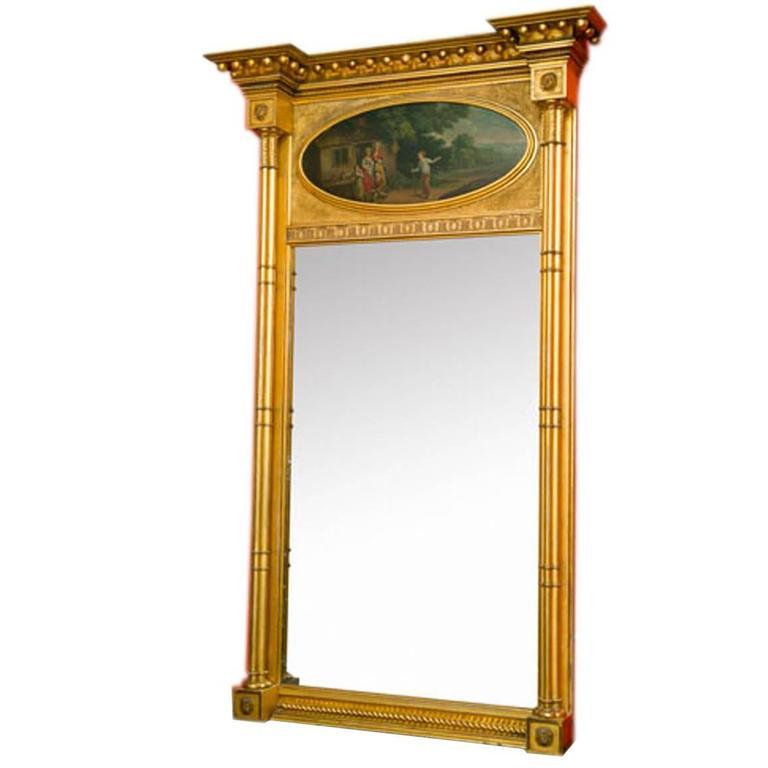 Early 19th Century Regency Gilt Pier Mirror For Sale