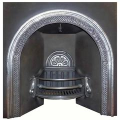Mid 19th Century Victorian Arched Highlighted Fireplace Insert