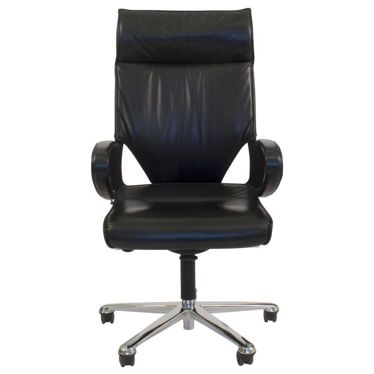 black leather modus 284/81 executive swivel office task chair