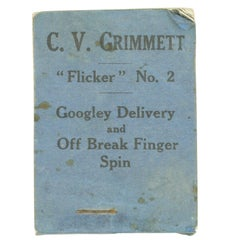 Vintage Cricket Flicker Book