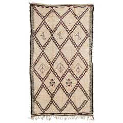 Vintage Handwoven Rug by the Beni Ourain Tribe