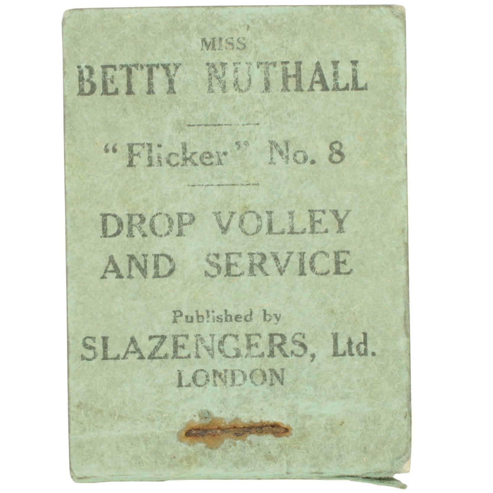 Vintage Tennis Flicker Book, No.8 Betty Nuthall