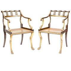 Pair of Early 19th Century Regency Style Chairs