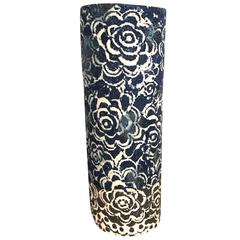 Vintage Inspired Design Indigo Vase, Thailand, Contemporary