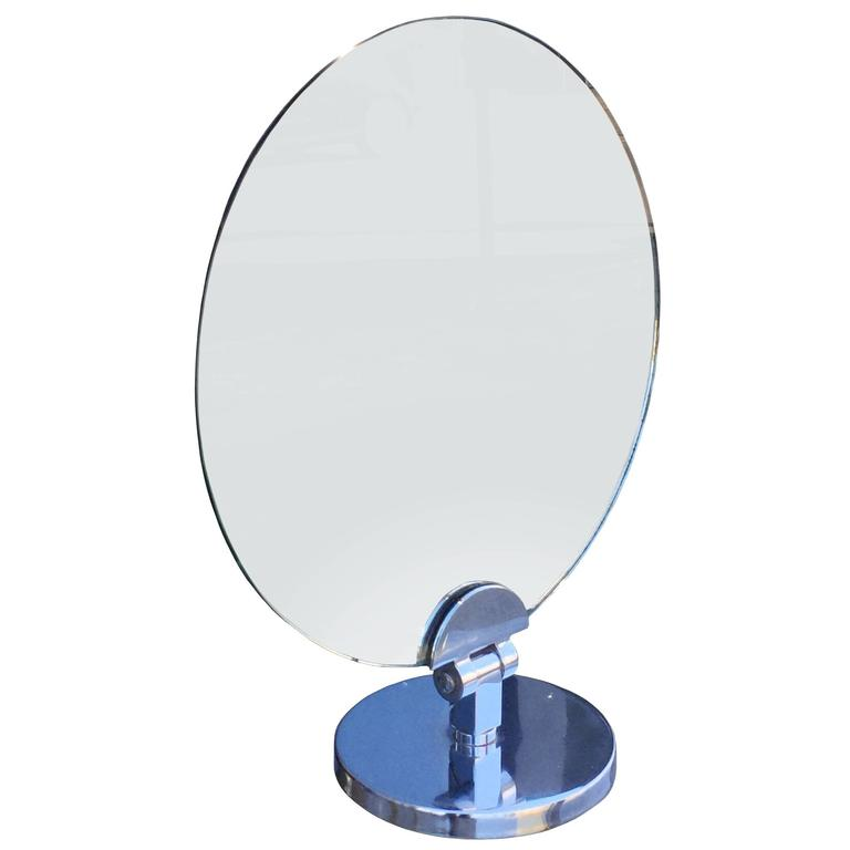 Charles Hollis Jones Swivel Vanity or Table Round Mirror