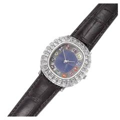 "Only Known Gold Diamond and Enamel ""Billiards"" Wristwatch by Audemars Piguet"