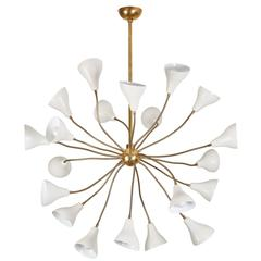 Large Italian Twenty-Arm Chandelier