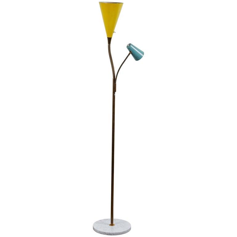 Rare Model 1044 Floor Lamp by Gino Sarfatti for Arteluce