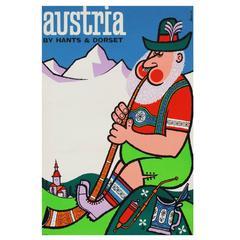 1960s Austria Travel Poster by Harry Stevens Pop Art