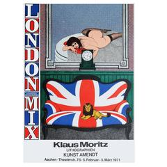 1970s Klaus Moritz London Mix Exhibition Poster Britain Pop Art
