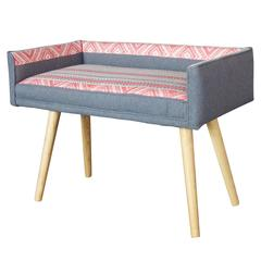 Studio Series Vanity Size Stool: Gray with Ribbon Detail by Maki (in stock)