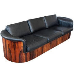 Rare Rosewood Case Sofa by Plycraft