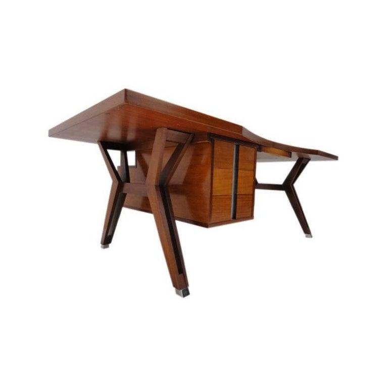 Ico Parisi ''Terni'' Executive Desk, 1958, Published MIM Roma, Italy