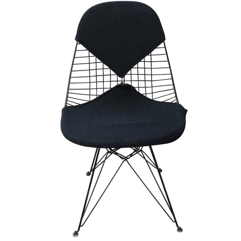 early eames herman miller black bikini modern wire chair at 1stdibs. Black Bedroom Furniture Sets. Home Design Ideas