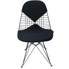 Early Eames Herman Miller Black Bikini Modern Wire Chair