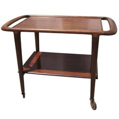 Rosewood Serving Cart by H. W. Klein for Illums Bolighus