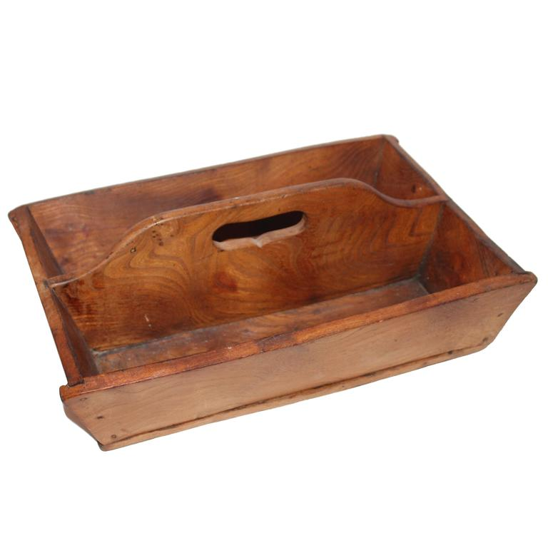 19th Century American Handmade Cutlery Box