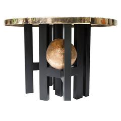 "Ado Chale Bronze Table ""Relief d'Agathe"""