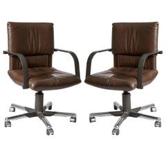 Pair of Swivel Chairs by Mario Bellini for Vitra